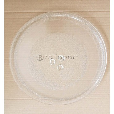 Reliapart Turntable Glass Plate with 3 Fixers For Sanyo Microwaves (245mm)